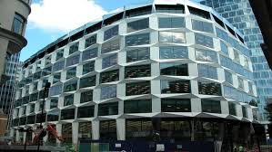 office building facade. One Coleman Street Is A 180,000ft², Ten-storey Office Development In Prime Building Facade
