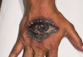 тату глаз на кисти Tattoografika