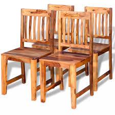 Vidaxl Esszimmerstühle 4 Stk Sheesham Holz