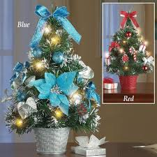 Decorated Christmas Tree Centerpiece Xmas Pre-Lit Tabletop Artificial  Ornaments