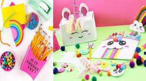 diy s amazing diy unicorn school supplies for back to school easy cute s diy loop leading diy craft inspiration database