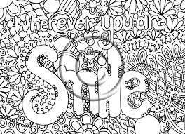 Small Picture Digital Download Coloring Page Hand Drawn Zentangle Inspired