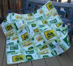 John Deere Rag quilt throw handmade in the USA | eBay & Image is loading John-Deere-Rag-quilt-throw-handmade-in-the- Adamdwight.com