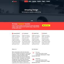 free html5 web template vteam free bootstrap html5 website template