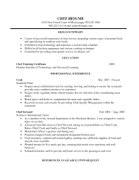 Resume For Chef Template Of Graph Paper