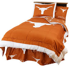 texas longhorns bed in a bag twin with team colored sheets