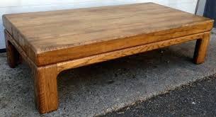 rustic solid oak coffee table original