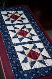 Best 25+ Quilted table runners ideas on Pinterest | Christmas ... & patriotic table runner using on on-point Ohio Star quilt block Adamdwight.com