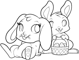 Small Picture Beautiful Easter Bunny Coloring Page 29 On Coloring Print with