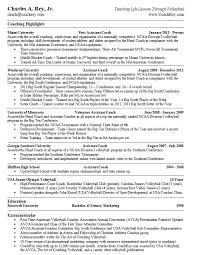 resume coaching example - Sample Coaching Resume