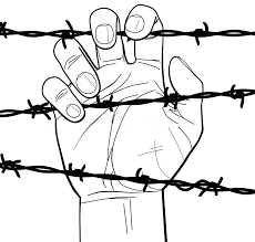 barbed wire fence drawing. Brilliant Fence Chain Link Barbed Wire Fence Detail Download Closeup Of A Hand On Stock  Vector Illustration Tattoo Drawing  Intended Barbed Wire Fence Drawing