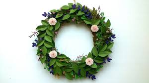 Christmas Paper Flower Wreath Make A Paper Flower Wreath Diy Paper Floral Wreath Youtube