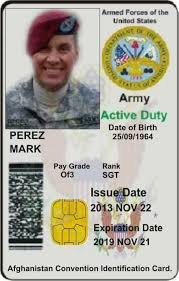 Scams Id Military Romance Fake Created Facebook Cards - Scammers amp; Used By