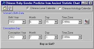 Chinese Baby Gender Selection Chart Chinese Farmers Calendar Gender Baby Names Menu