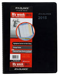At A Glance Weekly And Monthly Planner 2015 Includes Quicknotes Wirebound 8 25 X 10 88 Inch Page Size Black 76 950 05