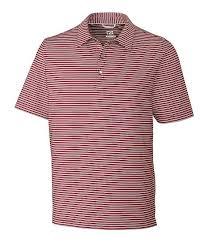 Cutter Buck Golf Drytec 50 Upf Division Stripe Polo Shirt