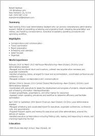 entry level administrative istant