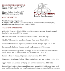 Yoga Teacher Resume Yoga Resume Yoga Instructor