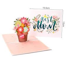 3d Pop Up Paper Creative Flowers Greeting Card For Mothers Teachers Day Wife Festival Gift Handmade Birthday Cards Handmade Cards From Bright689