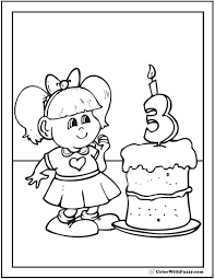 Small Picture 55 Birthday Coloring Pages Customizable PDF