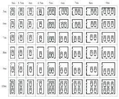 average garage door sizes mon standard chart