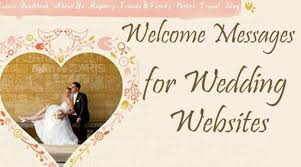 Welcome Messages For Wedding Websites Wedding Website