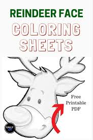 Christmas Baby Reindeer Coloring Pages With Free Pdf 13 Face Antlers
