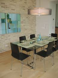 image of photo of glass dining table ikea