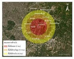 เช็กด่วน! พื้นที่ รัศมี 5 กม. จากจุดเกิดเหตุระเบิด โรงงานกิ่งแก้ว | Thaiger  ข่าวไทย