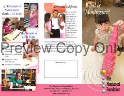 What Is A Pamphlet Sample Sample Pamphlet Introduction To Montessori By The Montessori