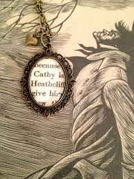 cathy and heathcliff from wuthering heights bronze book necklace  cathy and heathcliff from wuthering heights bronze book necklace`