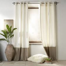 white and brown curtain ideas for living room modern