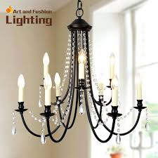 chandeliers wrought iron crystal wrought iron chandeliers with crystals photo 5 black