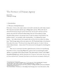 PDF) The Province of Human Agency | Anton Ford - Academia.edu