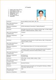 Format For Job Resume Lcysne Com