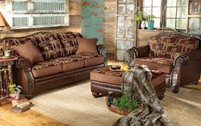 Printed Chairs Living Room Rustic Chairs Old Hickory Ottomans