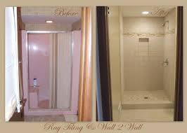 now replace shower stall one piece with tile ray tiling door curtain tub half glass pictures of tiled showers doors seamless bathroom instead installing