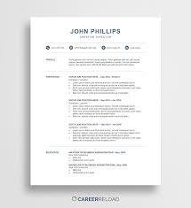 006 Template Ideas Modern Resume Free Download Word John