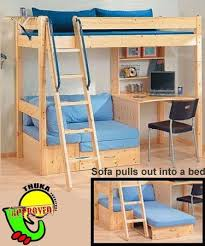 thuka maxi 29 loft bed with desk and sofa bed bunk bed office