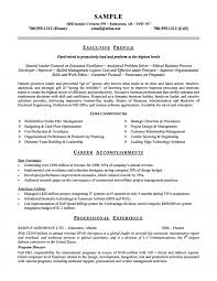 Sample Company Resume Cover Letter Business Management Category