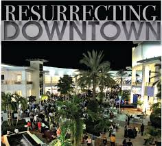 downtown at the gardens offers events to draw customers including concerts in its centre court