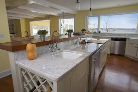 Carrera Countertops simple kitchen design with faux carrara marble kitchen countertops 4488 by xevi.us