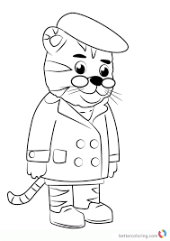 Daniel Tiger And His Friends Coloring Page Free Printable Good How
