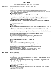 Physical Therapy Aide Resume Physical Therapy Aide Resume Unique