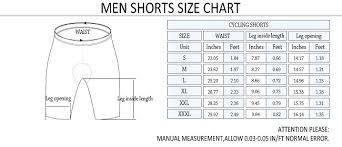 Men S Bottoms Size Chart Men Shorts Size