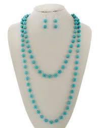 rhodiumized turquoise stone lead nickel pliant fish hook earrings long neck