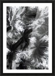 black and white camouflage abstract painting texture background picture frame printing