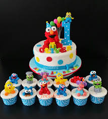 Elmo And Friends Cake For Olivers 1st Birthday Jocakes