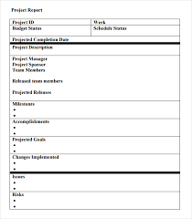 project weekly report format sample project status report 14 examples format