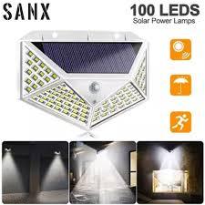 sanx 100 led solar light bulb wall